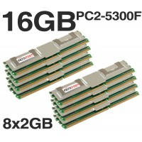 16GB (8x2GB) DDR2 PC2-5300F 667MHz MEMORY RAM Apple Mac Pro 2006 2008