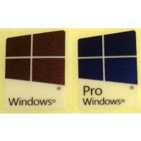 Windows 10 Pro Windows 10 Logo Badge Sticker - PVC Laser Colors