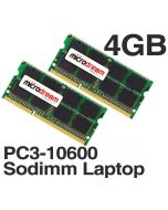 4GB (2x2GB) PC3-10600 1333MHz 204Pin DDR3 Sodimm Laptop Memory RAM