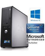 Dell OptiPlex 780 SFF Dual Core 4GB 160GB Windows 10 Professional 64-Bit Desktop PC Computer