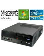 Lenovo ThinkCentre M55e 9632 SFF Core 2 Duo E4300 DVD Windows 7 Desktop PC Computer