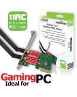 Addon AWP1200E Wireless AC Dual Band 1200Mbps PCI-E Adapter - 802.11a/b/g/n/ac