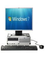 Complete set of HP Compaq dc7700 SFF Core 2 Duo 1GB 80GB DVD Windows 7 Desktop PC Computer