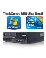 Lenovo ThinkCentre M58 Ultra Small Dual-Core E5400 4GB 160GB DVD Desktop PC Computer