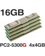 16GB (4x4GB) M395T5160QZ4-YE68 DDR2 PC2-5300G 667MHz ECC FBDIMM SERVER MEMORY RAM