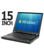 "Lenovo ThinkPad R60 15"" Core Duo T2400 Radeon X1300 1GB WiFi DVD Windows 7 Laptop"