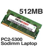 512MB PC2-5300 667MHz 200Pin DDR2 Sodimm Laptop Memory RAM