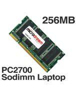 256MB PC2700 333MHz 200Pin DDR Sodimm Laptop Memory RAM