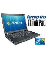 "Lenovo ThinkPad T60 15"" Core 2 Duo T5500 1.66GHz DVD WiFi Windows 7 Laptop"