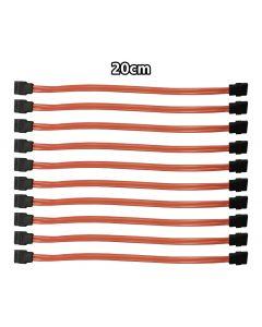 Job Lot of 10 x SATA Serial ATA 20CM Straight Orange Cables MD713