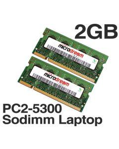 2GB (2x1GB) PC2-5300 667MHz 200Pin DDR2 Sodimm Laptop Memory RAM