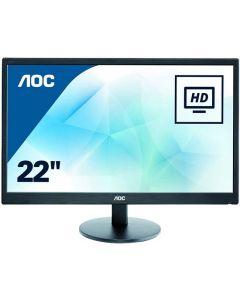 """21.5"""" AOC E2270SWDN Full HD Widescreen Monitor (1920x1080/5ms/VGA/DVI) Black"""