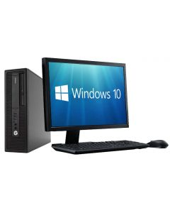 "Complete set of 22"" Monitor and HP EliteDesk Quad Core i5-6500 8GB 128GB SSD WiFi Windows 10 64-Bit  Desktop PC Computer"