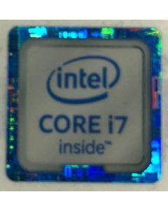 Genuine Intel Core i7 Inside Case Badge Sticker (6th Generation) 18mm x 18mm