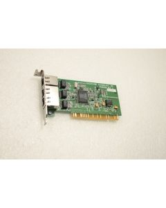 Touchstone Technology PCI Network Ethernet Card PCB0168 Rev A 3 Port