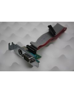 T4444 Dell Serial Port PS2 Add In Card with Cable N3563