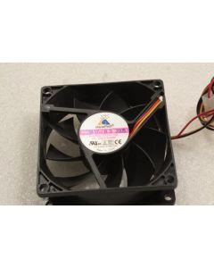 GlacialTech F128025BL 80mm x 25mm 3Pin Case Fan