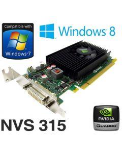 nVidia Quadro NVS 315 1GB PCIe x16 Dual Display DMS-59 Low Profile Graphics Card