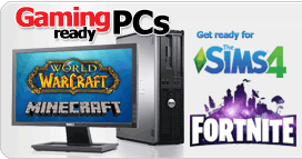 Start Gaming PCs from £139.90, click for more info