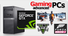 Advanced Gaming PCs from £219.90, click for more info
