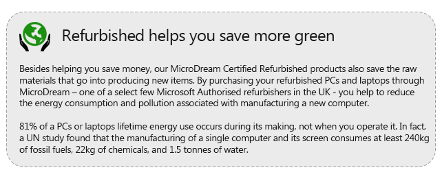 Refurbished helps you save more green