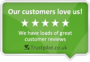 We have loads of great customer reviews on trustpilot.co.uk