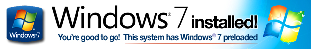 Genuine Windows 7 installed!
