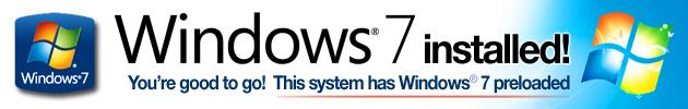 Genuine Windows 7 installed!
