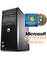 Dell OptiPlex 380 MT Dual-Core E5300 2.6GHz 2GB 160GB Windows 7 Professional Desktop PC Computer