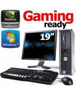 19-inch Monitor Gaming Ready Dell Core 2 Duo E6550 4GB GT 610 Windows 7 Professional