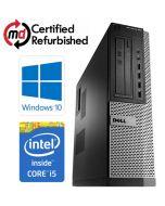 Dell OptiPlex 790 DT Quad Core i5-2400 8GB 500GB DVDRW WiFi Windows 10 Professional 64-Bit Desktop PC Computer