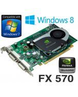 nVidia Quadro FX 570 256MB PCI-Express Dual DVI Graphics Card WX397