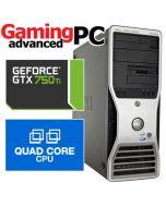 Gaming PC Dell T5400 Quad-Core E5430 2.66GHz GTX 750 Windows 7 Desktop Computer