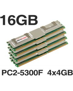 16GB (4x4GB) DDR2 PC2-5300F 667MHz ECC Fully Buffered Server Memory RAM HP Dell