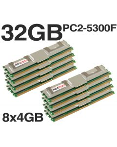 32GB (8x4GB) DDR2 PC2-5300F 667MHz ECC Fully Buffered SERVER MEMORY RAM HP DELL