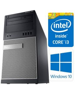 Dell OptiPlex 7010 MT 3rd Gen Core i3-3220 8GB 500GB DVDRW WiFi Windows 10 Professional 64-Bit Desktop PC Computer