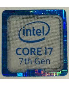 Genuine Intel Core i7 Inside Case Badge Sticker (7th Generation) 18mm x 18mm