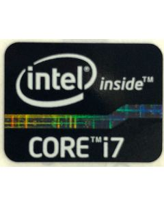 Genuine Intel Core i7 Inside Black Case Badge Sticker (2nd 3rd Generation)