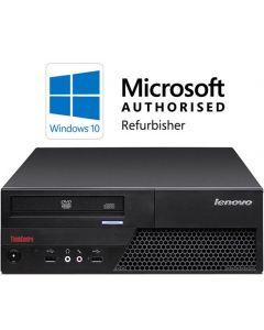Lenovo ThinkCentre M58p Core 2 Duo E8400 3.0GHz 4GB 160GB DVD Windows 10 Refurbished Computer