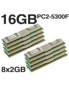 16GB (8x2GB) DDR2 PC2-5300F 667MHz ECC Fully Buffered SERVER MEMORY RAM HP DELL